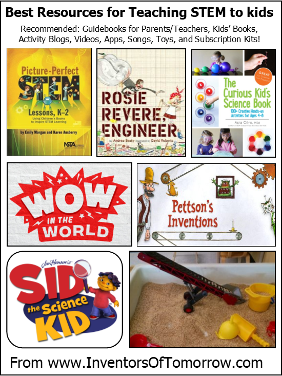 recommended resources for teaching STEM to kids age 3 - 6
