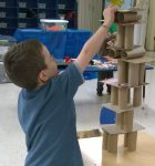 Preschool Engineering - Build Towers with TP rolls and cardboard.