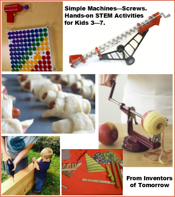 Screws Simple Machines Activities For Kids Inventors Of Tomorrow