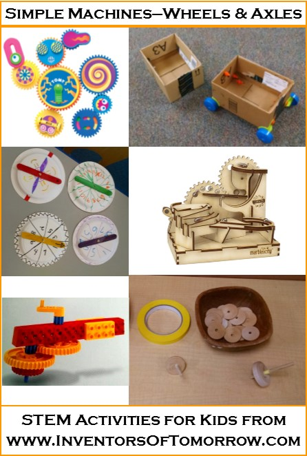 Wheels And Axles Simple Machines Activities For Kids Inventors