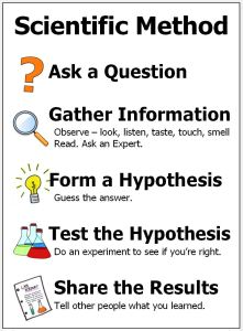 poster showing steps in the scientific method