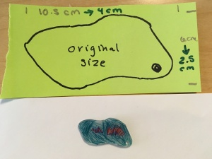 picture of tracing of original art and shrinky dink