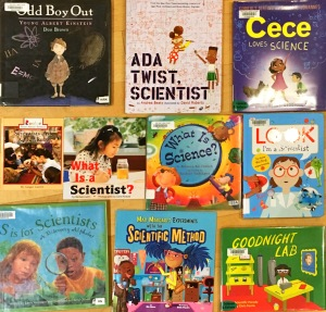 photo of kids' books about science